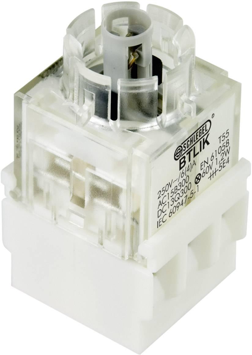 Spínacie kontaktné teleso s objímkou lampičky Schlegel BTLI5K, 2 spínacie, bez aretácie, 250 V, 1 ks