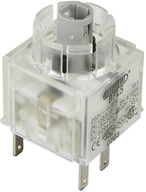 Spínacie kontaktné teleso s objímkou lampičky Schlegel BFL5, 1 rozpínací, 1 spínací, s aretáciou, 250 V, 1 ks
