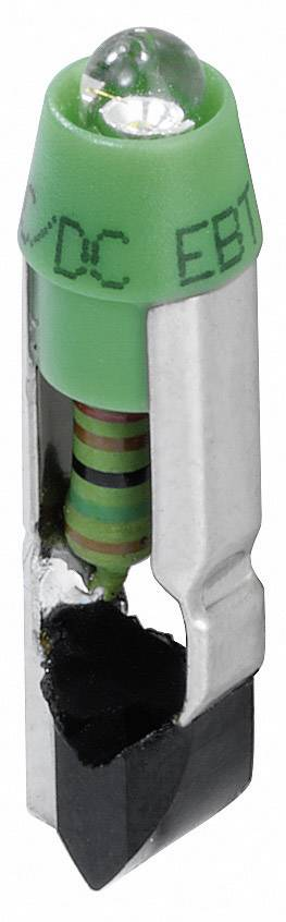 LED dióda Schlegel L5,5K24UG L5,5K24UG, (Ø x d) 5.8 mm x 22 mm, zelená, 1 ks