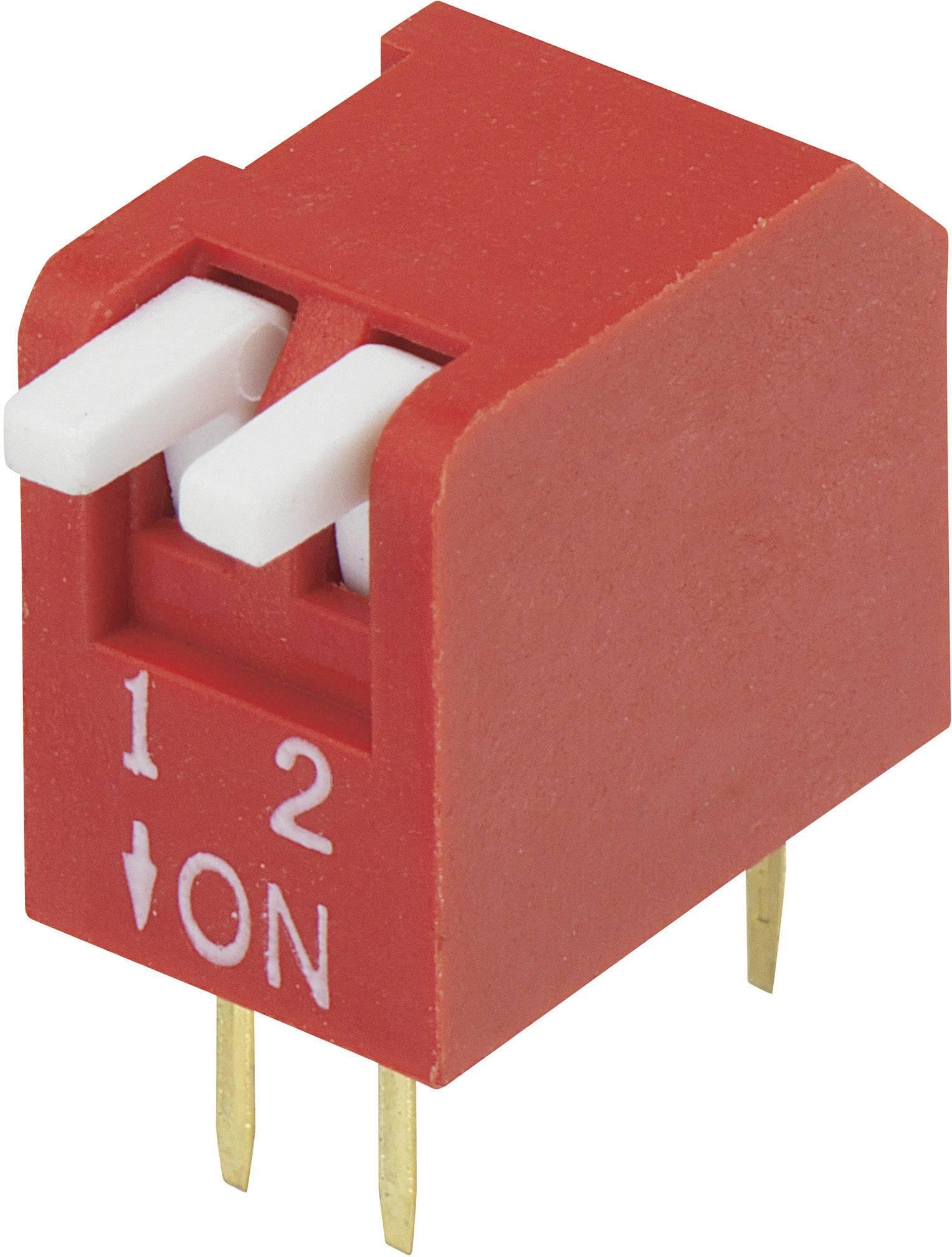 DIP spínač DP-02, (š x v) 10,6 mm x 9,7 mm