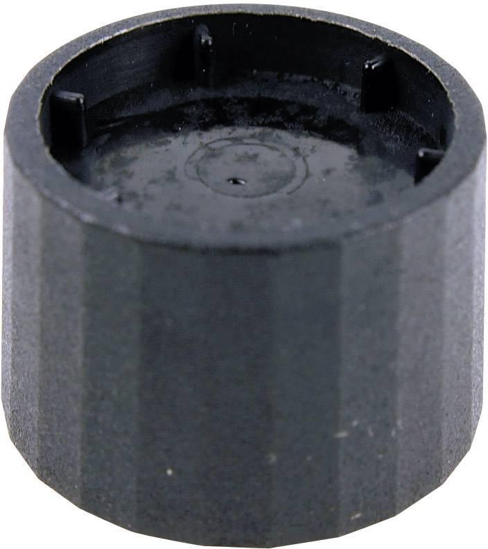 Otočný gombík Cliff CL172877, (Ø x v) 25.3 mm x 19.2 mm, čierna, 1 ks