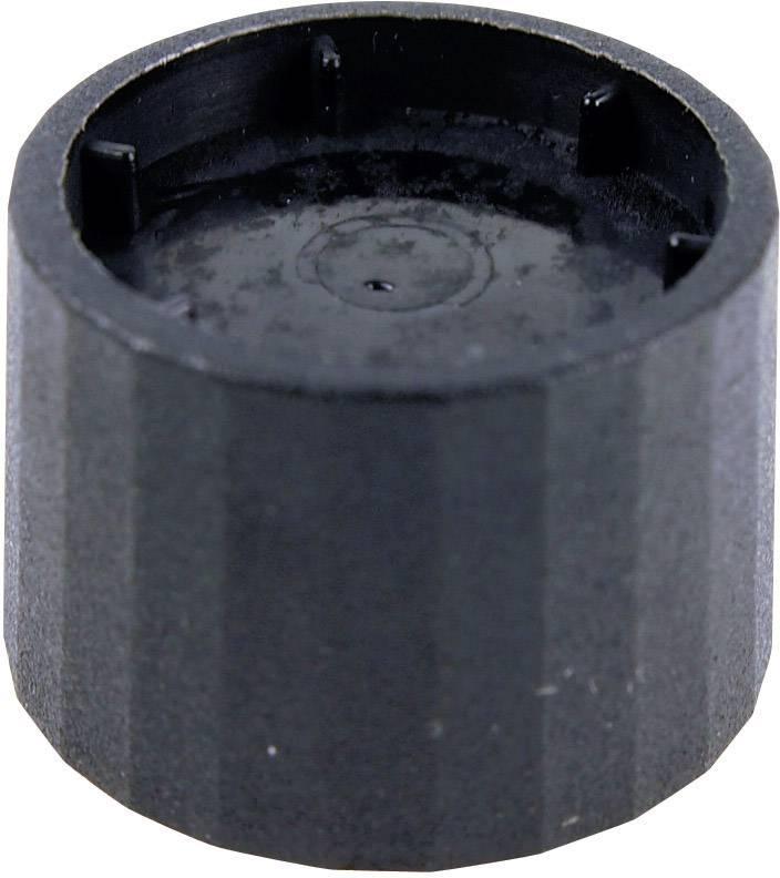 Otočný gombík Cliff CL172877B, (Ø x v) 25.3 mm x 19.2 mm, čierna, 1 ks