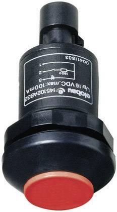 Tlačidlo Elobau 145010AB-RD, 48 V DC/AC, 0.5 A, čierna, červená, 1 ks