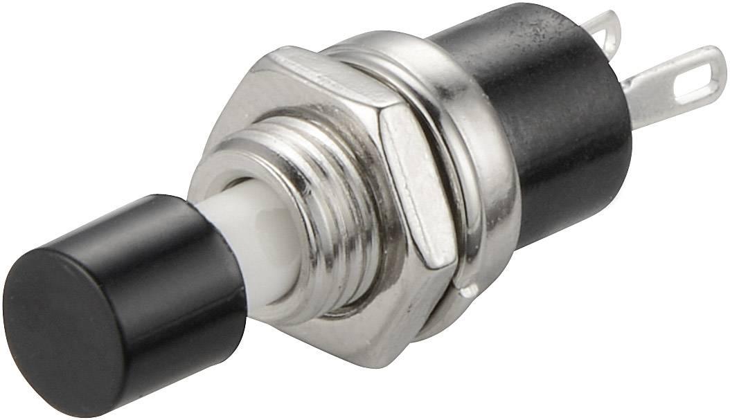 Tlačítko TRU COMPONENTS TC-R13-24A1-05-BK, 250 V/AC, 1.5 A, černá, 1 ks