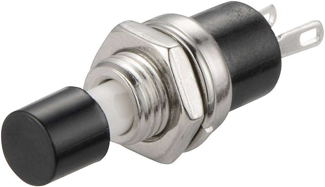 Tlačidlo SCI R13-24A1-05-BK, 250 V/AC, 1.5 A, čierna, 1 ks