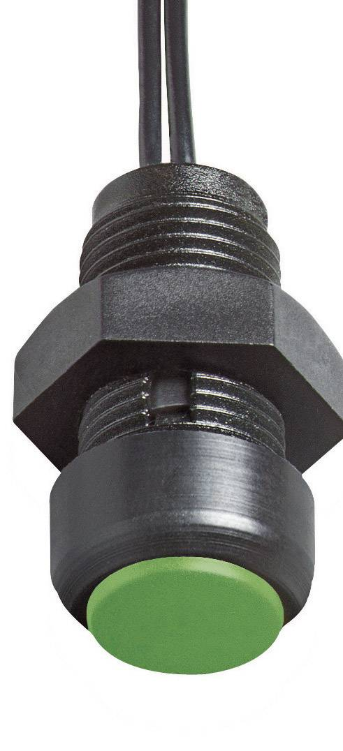 Tlačidlo Elobau 145MT00A-GN, 48 V DC/AC, 0.5 A, čierna, červená, 1 ks