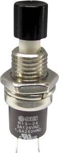 Stláčacie tlačidlo SCI R13-24B1-05 BK, 250 V/AC, 1.5 A, 1 ks