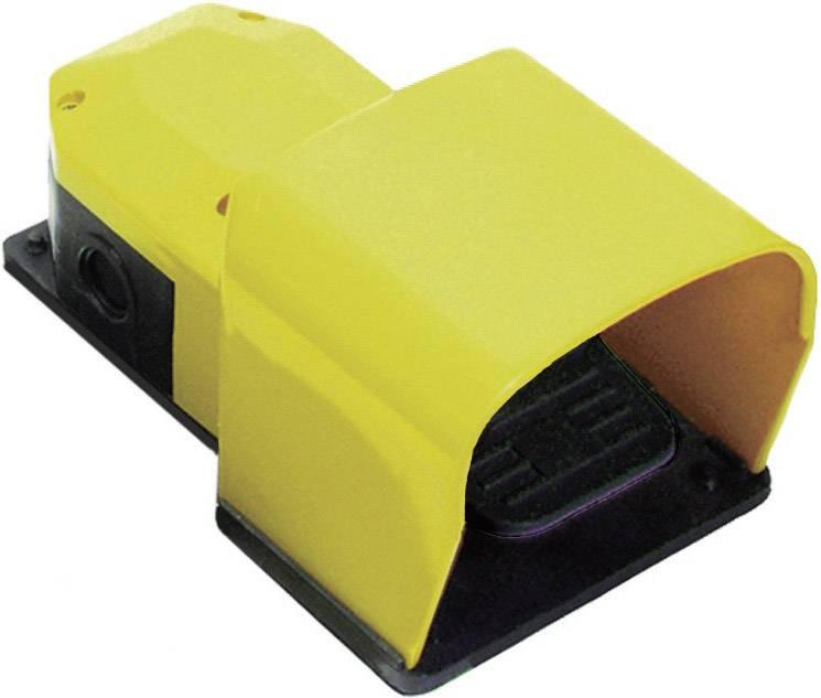 Nožné / ručné tlačidlo s ochranným krytom Pizzato Elettrica PX 10111-M2, 250 V/AC, 6 A, 1 spínací, 1 rozpínací, 1 pedál , IP65, 1 ks