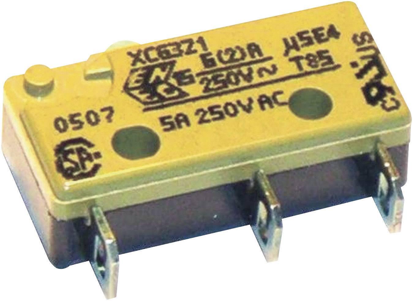 Mikrospínač - rovná kovová páka Saia XCG3J1Z1, 250 V/AC, 6 A, IP40