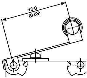 Mikrospínač - páka s valčekom Saia V4NST7YRUL, 250 V/AC, 5 A, IP67