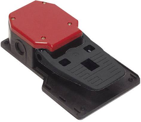 Nožní spínač Pizzato Elettrica PA 20201-M2, 6 A, IP65, plast, M20, červená