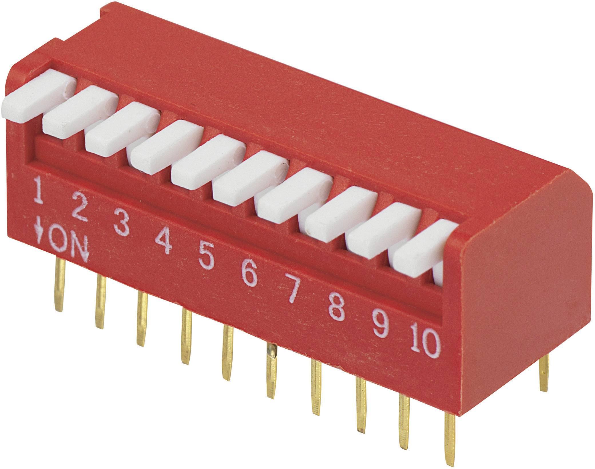 DIP spínač DP-10, (š x v) 10,6 mm x 9,7 mm