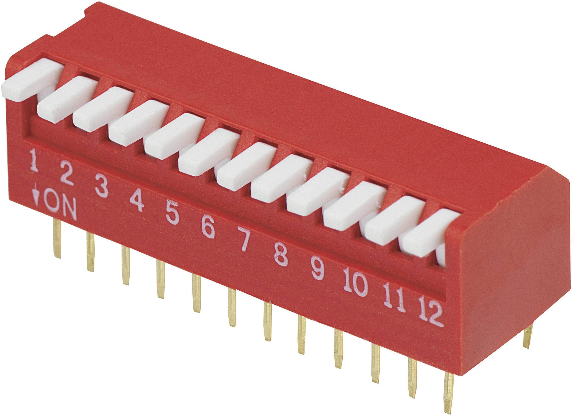 DIP spínač DP-12, (š x v) 10,6 mm x 9,7 mm