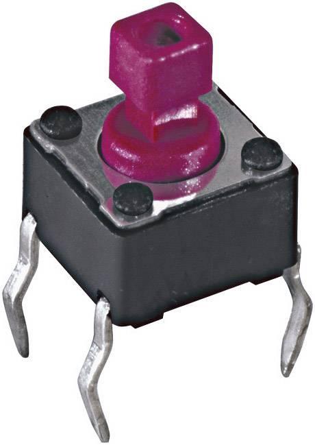 Tlačidlo, tlačidlo pre montáž na dosku plošných spojov Diptronics DTS-644N-V, 12 V/DC, 0.05 A, čierna, 1 ks