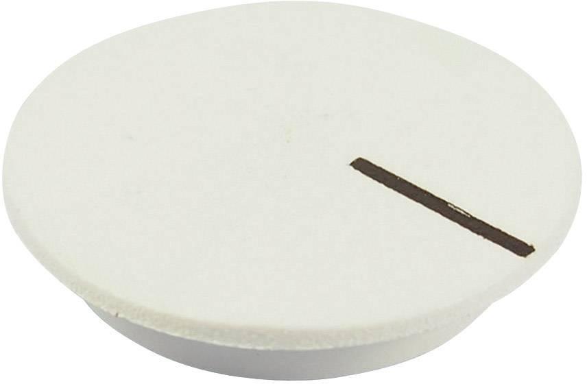 Krytka na otočný knoflík Cliff CL177803, s ukazatelem, pro sérii K12, bílá