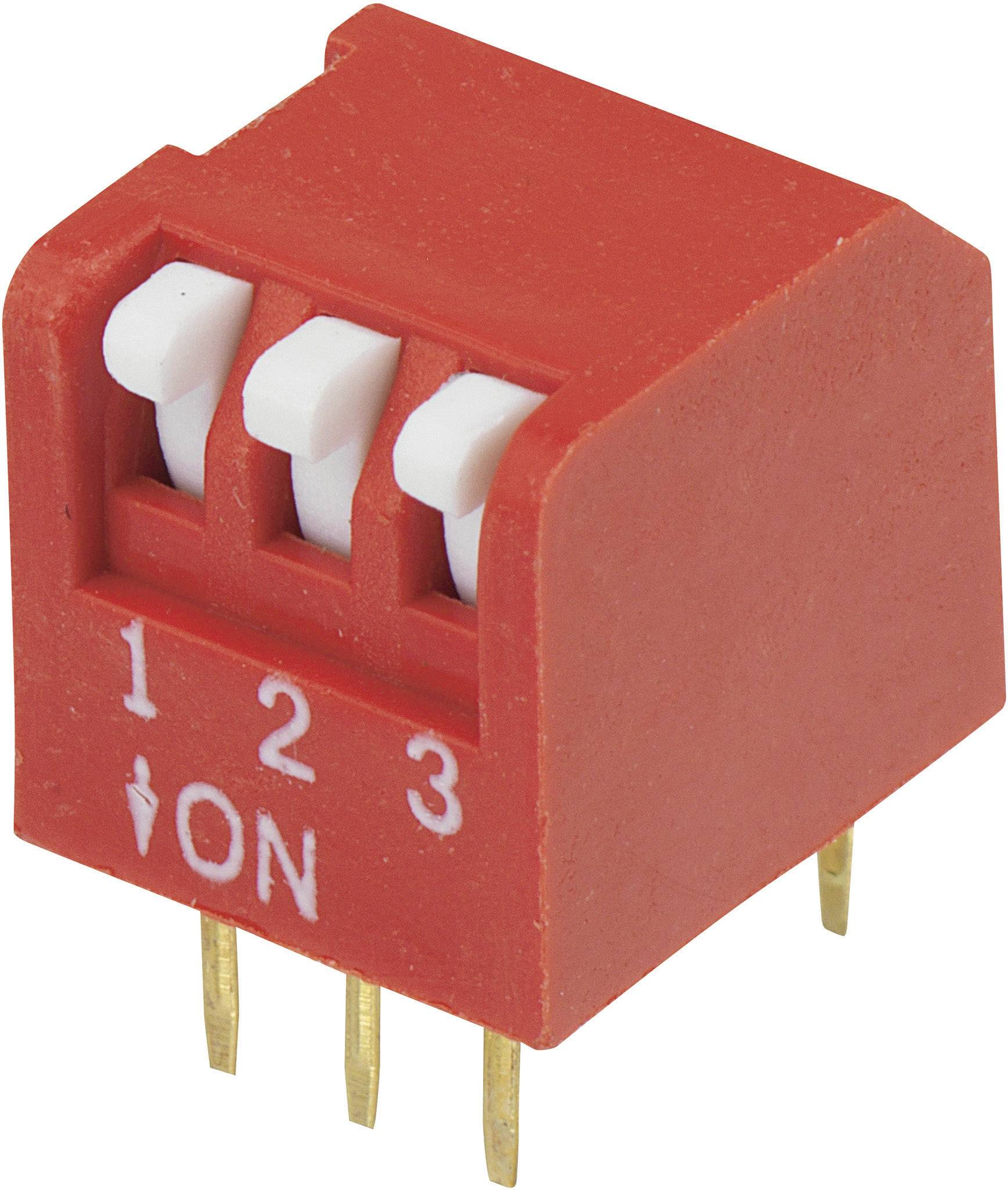 DIP spínač DPR-03, (š x v) 10,6 mm x 9,7 mm