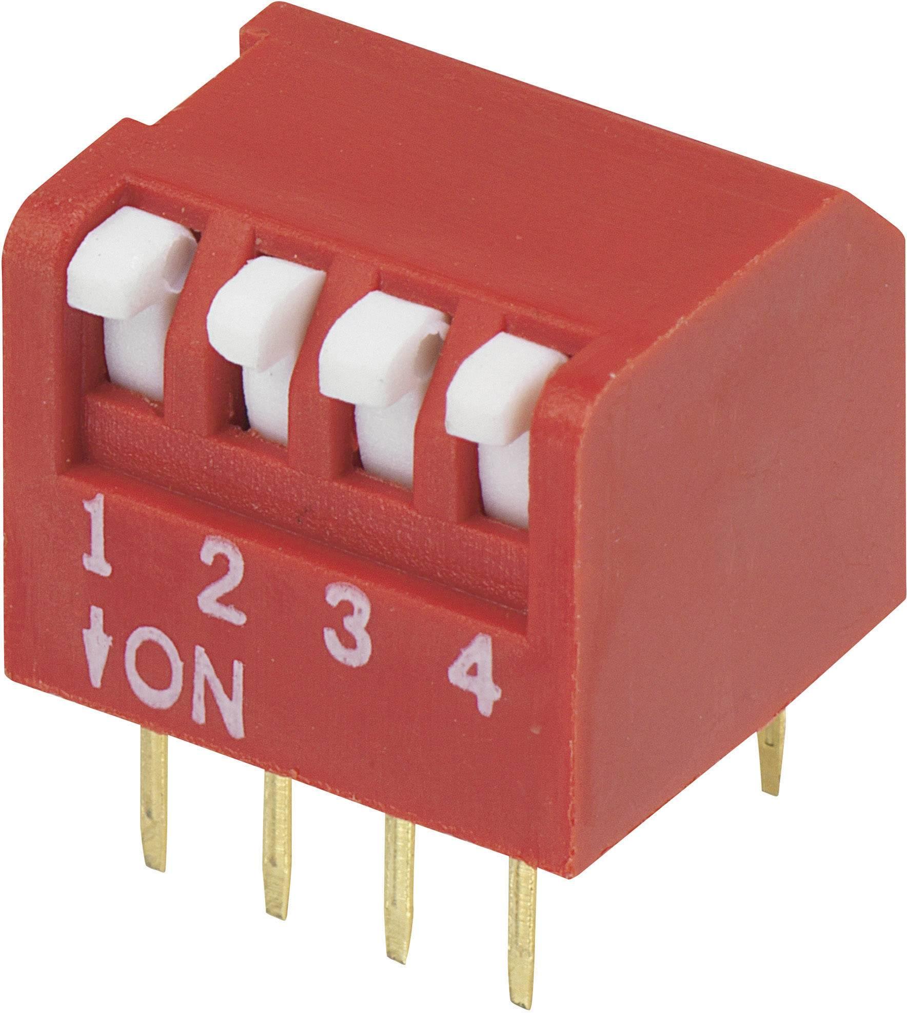 DIP spínač DPR-04, (š x v) 10,6 mm x 9,7 mm