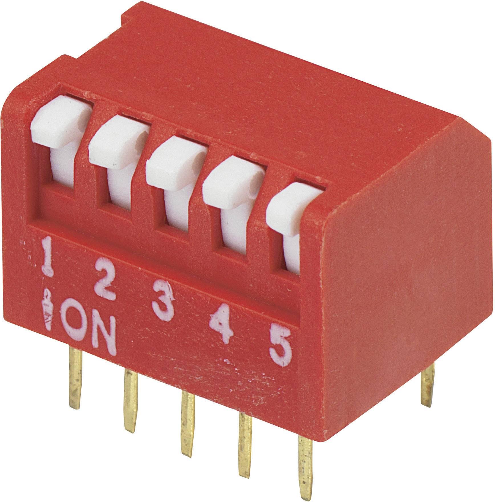 DIP spínač DRP-05, (š x v) 10,6 mm x 9,7 mm