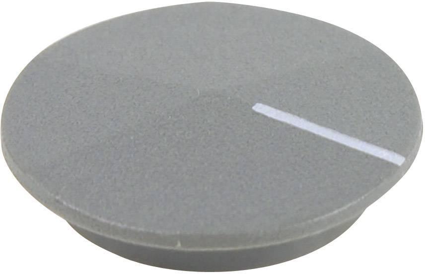 Krytka na otočný knoflík Cliff CL177809, s ukazatelem, pro sérii K12, šedá