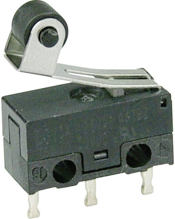 Mikrospínač - páka s valčekom Cherry Switches DG13-B1RA, 125 V/AC, 3 A