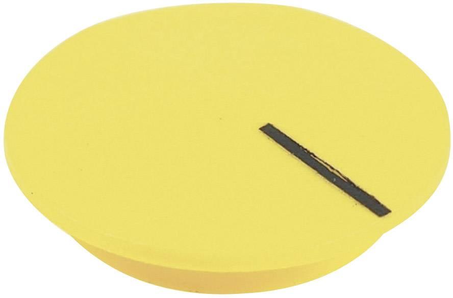 Krytka na otočný knoflík Cliff CL177811, s ukazatelem, pro sérii K12, žlutá