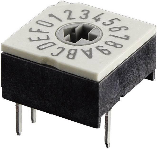 Otočný kódovací přepínač Hartmann, hexadecimální, P60A 703 1, 24 V DC/AC
