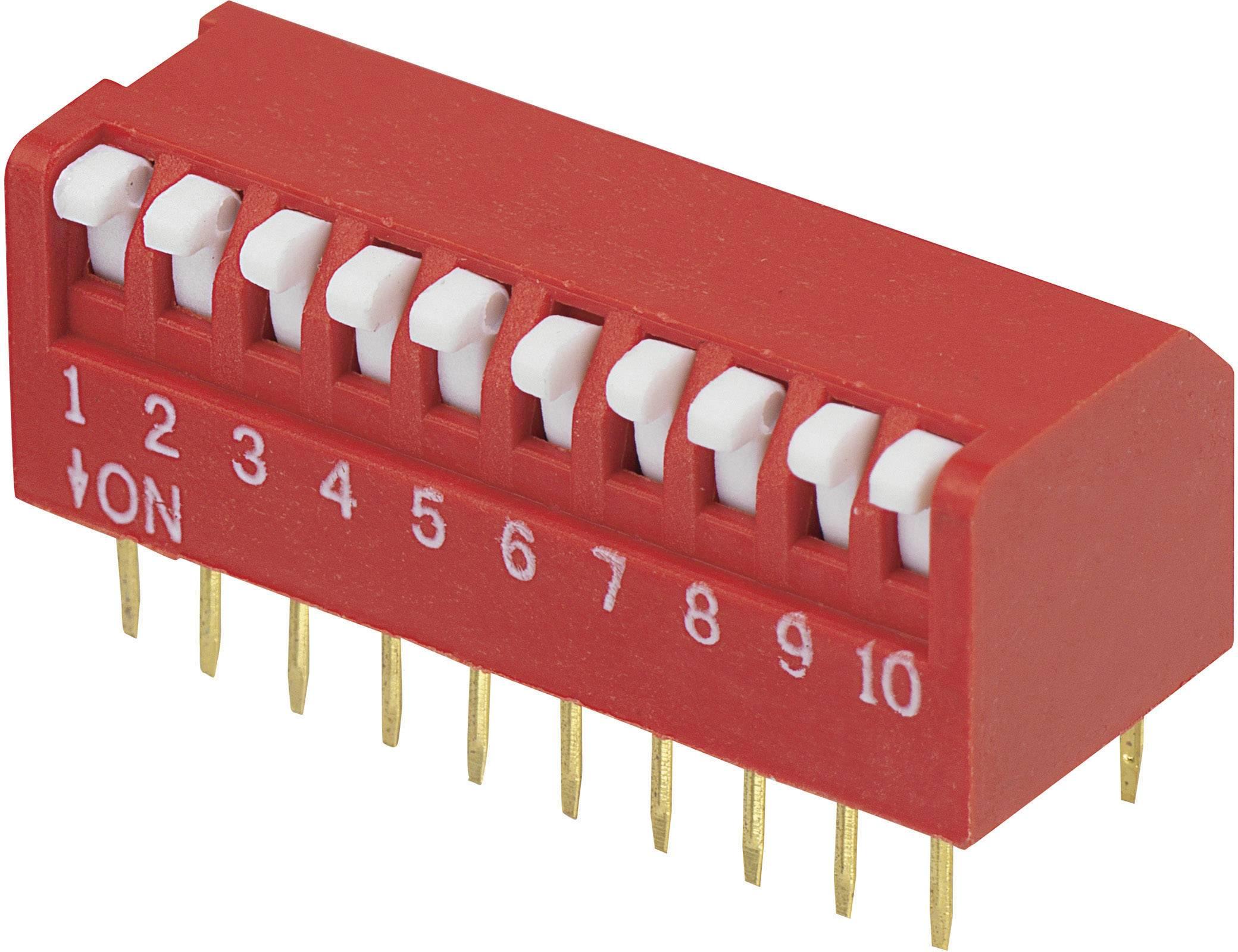 DIP spínač DPR-10, (š x v) 10,6 mm x 9,7 mm