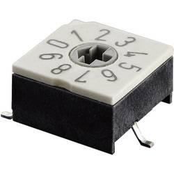 Otočný kódovací přepínač Hartmann, hexadecimální, P60AS 703 1, 24 V DC/AC