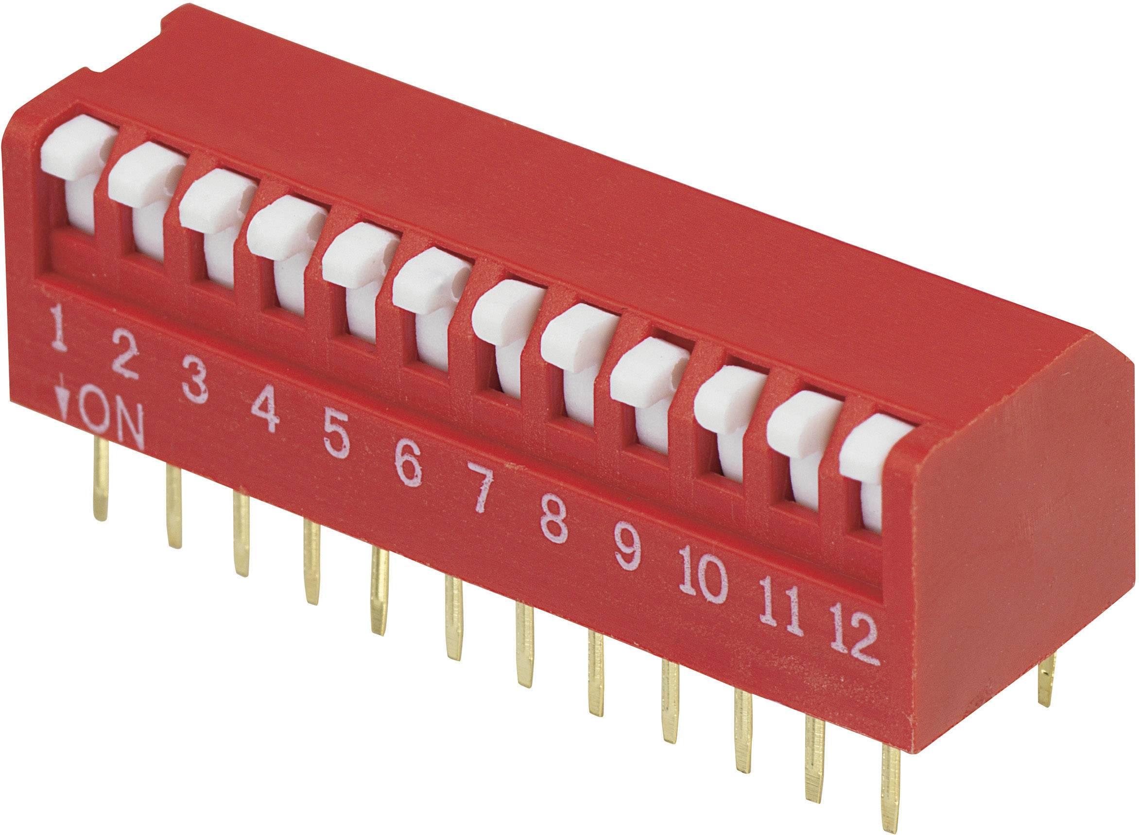 DIP spínač DPR-12, (š x v) 10,6 mm x 9,7 mm