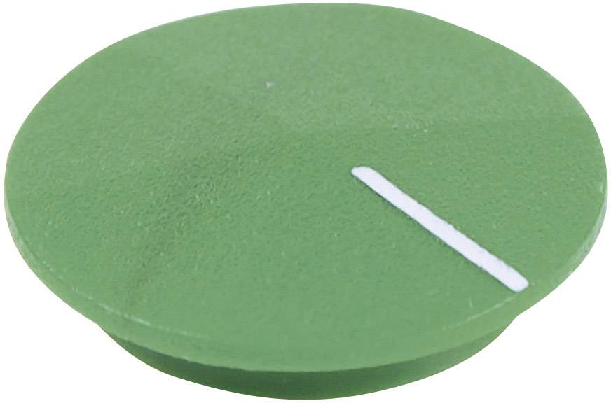 Krytka na otočný knoflík Cliff CL177815, s ukazatelem, pro sérii K12, zelená