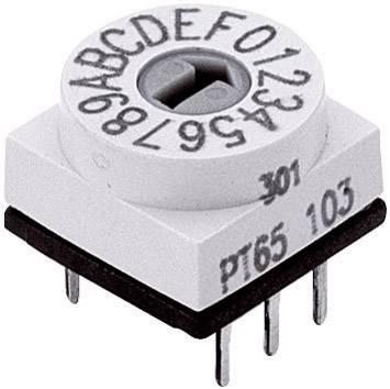 Miniaturní kódový přepínač Hartmann, 24 V DC/AC, 10 x 6,5 mm, 0-9 spínacích poloh