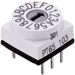 Miniaturní kódový přepínač Hartmann HEX. CODIERSCHALTER, 16 poloh (štěrbina), 24 V DC/AC