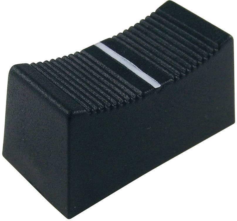 Posuvný gombík Cliff CP3155, (d x š x v) 23 x 11 x 11 mm, čierna, 1 ks