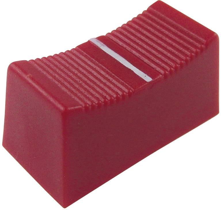 Posuvný gombík Cliff CP3175, (d x š x v) 23 x 11 x 11 mm, červená, 1 ks