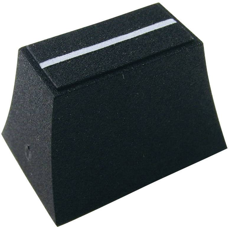 Posuvný gombík Cliff CP3193, (d x š x v) 20 x 14 x 13 mm, čierna, 1 ks