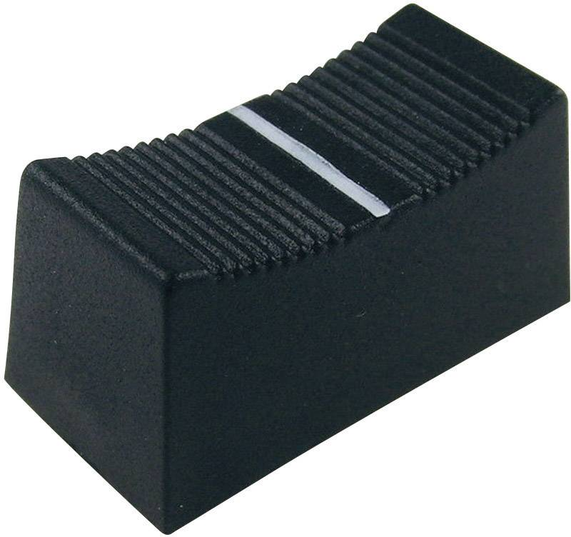 Posuvný gombík Cliff CP3260, (d x š x v) 23 x 11 x 11 mm, čierna, 1 ks