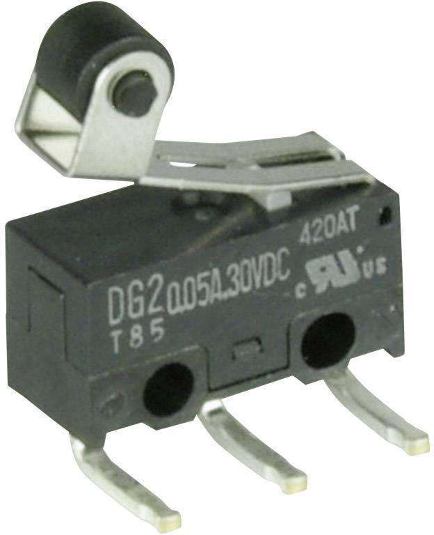 Mikrospínač - páka s valčekom Cherry Switches DG23-B2RA, 30 V/DC, 0.05 A