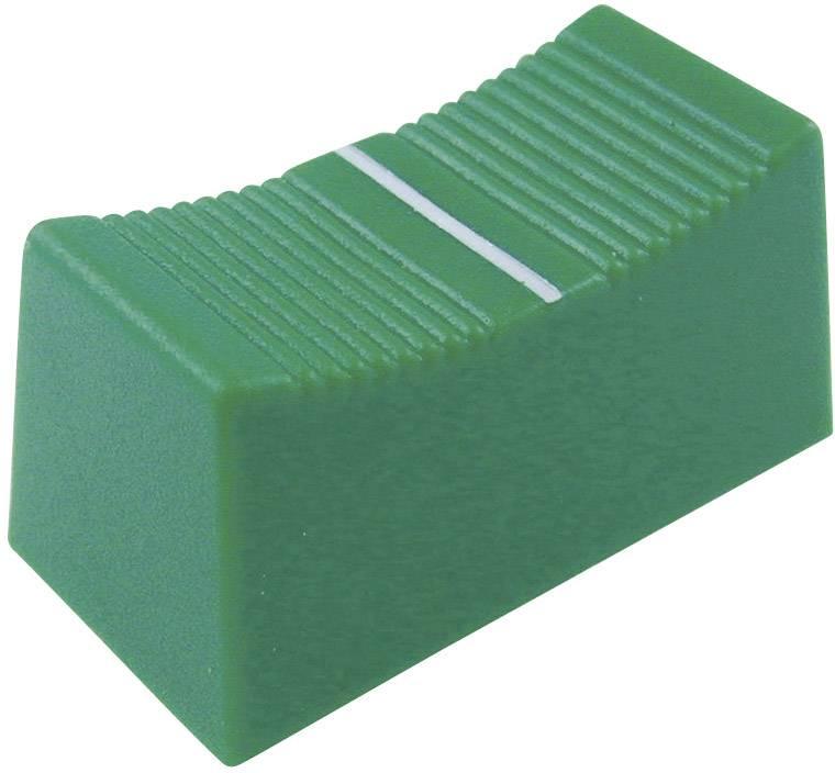 Posuvný gombík Cliff CP3270, (d x š x v) 23 x 11 x 11 mm, zelená, 1 ks