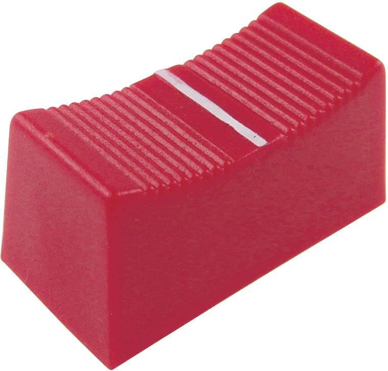 Posuvný gombík Cliff CP3275, (d x š x v) 23 x 11 x 11 mm, červená, 1 ks