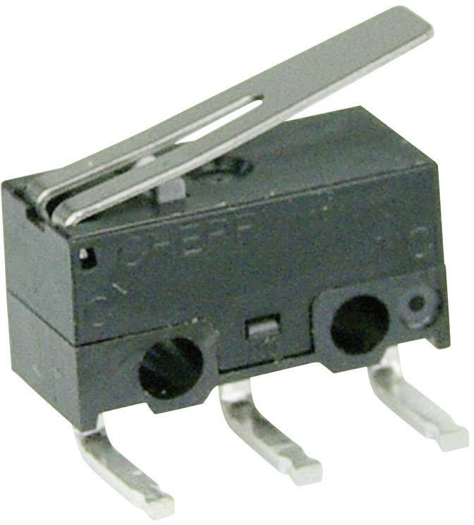 Mikrospínač - rovná kovová páka Cherry Switches DG23-B3LA, 30 V/DC, 0.05 A
