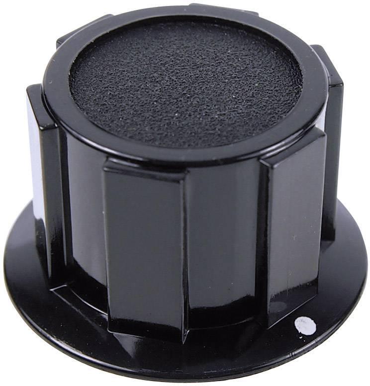 Otočný gombík Cliff FC1600, (Ø x v) 25.4 mm x 15.1 mm, čierna, 1 ks