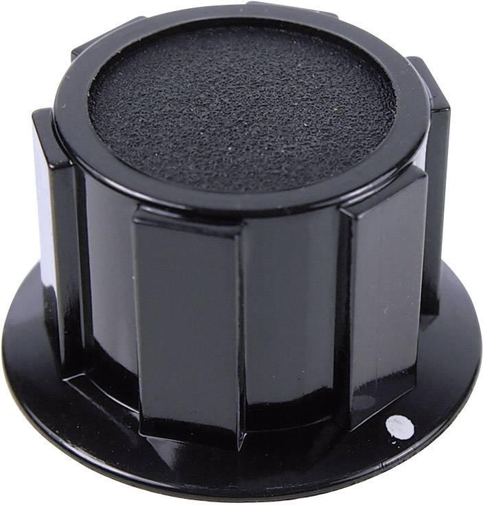 Otočný gombík Cliff FC1601, (Ø x v) 25.4 mm x 15.1 mm, čierna, 1 ks