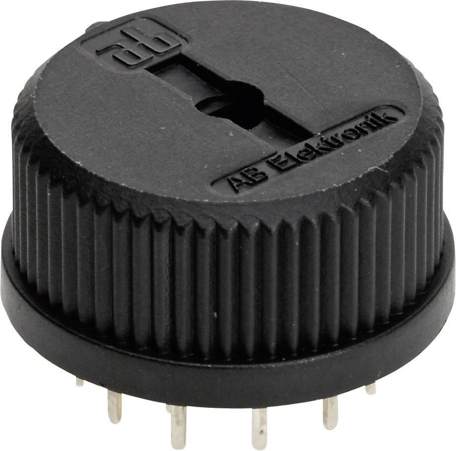 Miniatúrny otočný prepínač TT Electronics AB 417, počet pozic 6