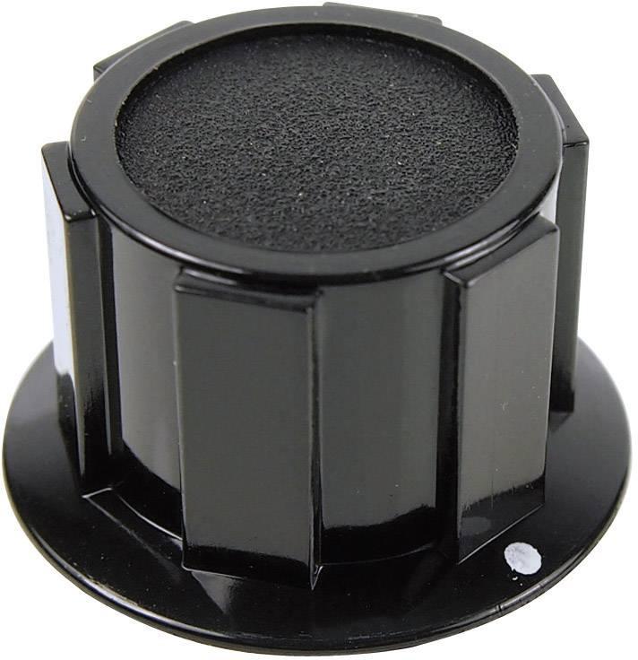 Otočný gombík Cliff FC1610, (Ø x v) 25.4 mm x 15.1 mm, čierna, 1 ks