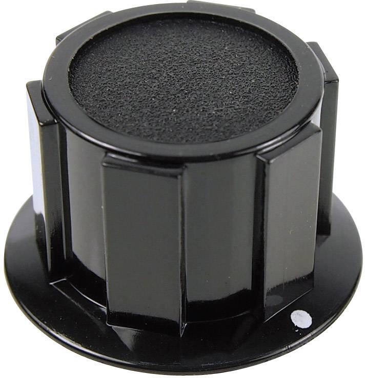 Otočný gombík Cliff FC1611, (Ø x v) 25.4 mm x 15.1 mm, čierna, 1 ks