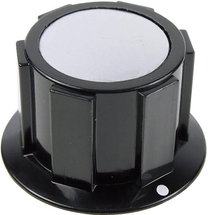 Otočný gombík Cliff FC1616, (Ø x v) 25.4 mm x 15.1 mm, čierna, strieborná, 1 ks