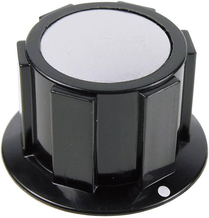 Otočný gombík Cliff FC1622, (Ø x v) 25.4 mm x 15.1 mm, čierna, strieborná, 1 ks