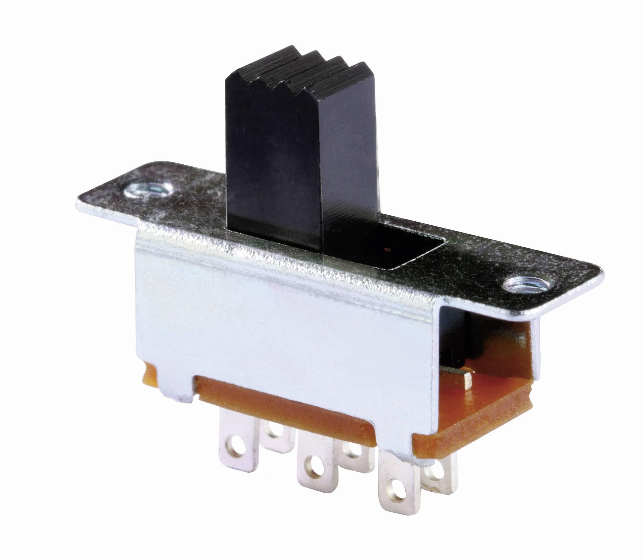 Posuvný přepínač Knitter-Switch MFS 201N SW, 30 V/DC, 0.35 A, 2x zap/zap, 1 ks