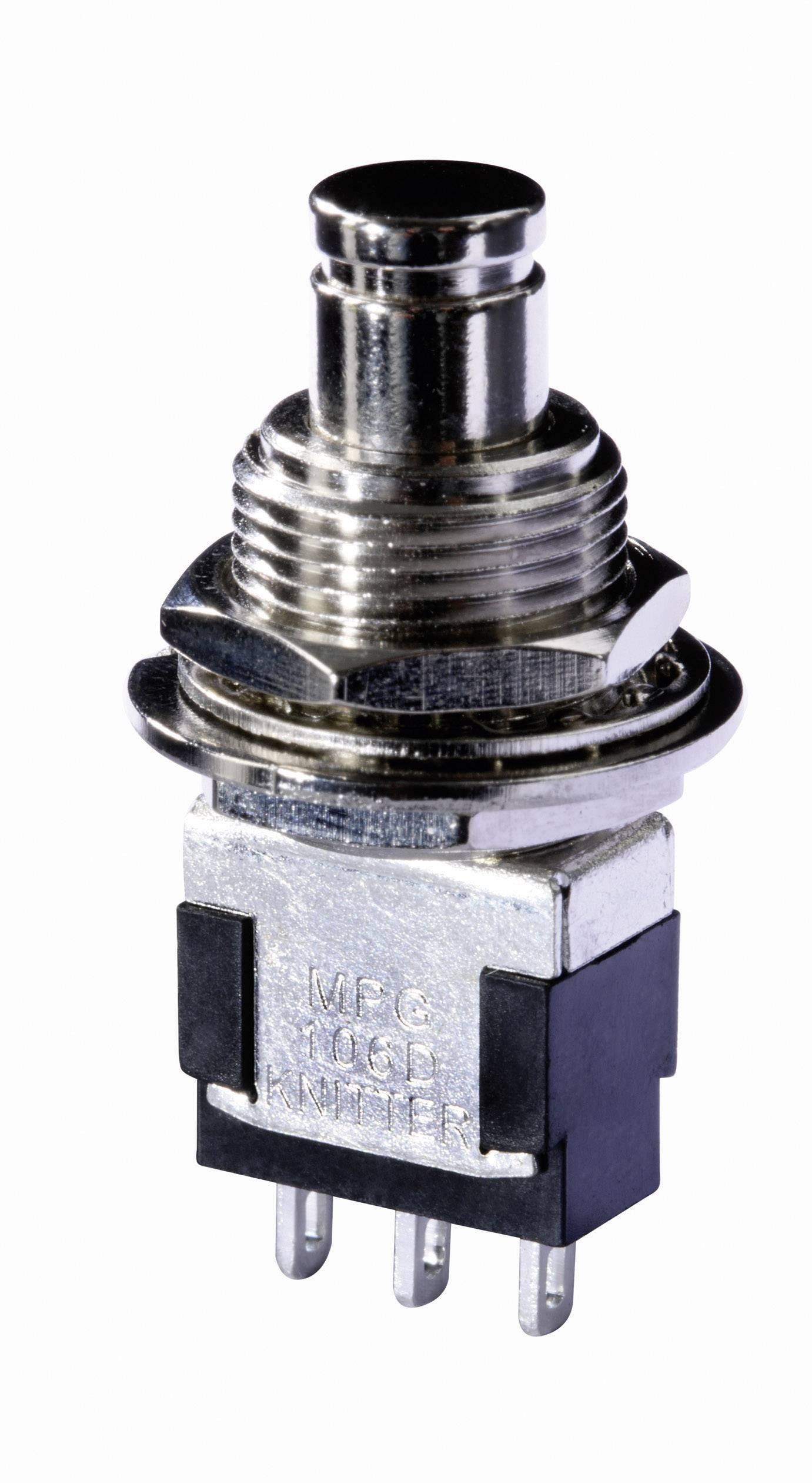 Stláčacie tlačidlo Knitter-Switch MPG 106F, 250 V/AC, 3 A, 1 ks