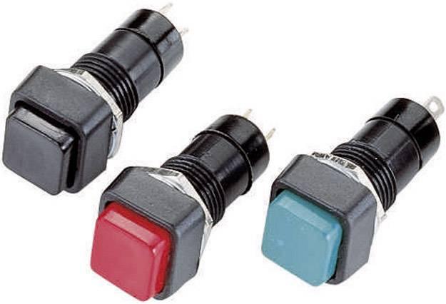 Tlačidlový spínač R18-23A-2-H, 250 V/AC, 1 A, čierna, 1 ks